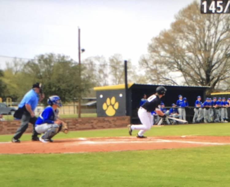 Baseball game in progress